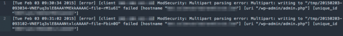 error logs showing write fail.