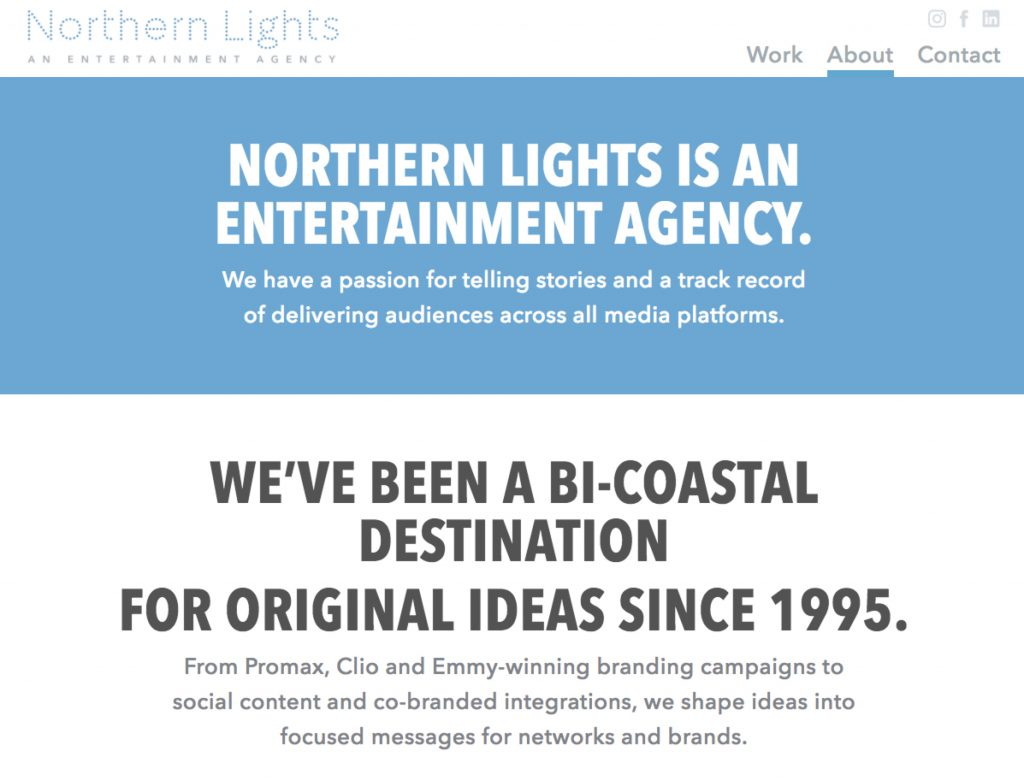 NL.Agency about page screenshot